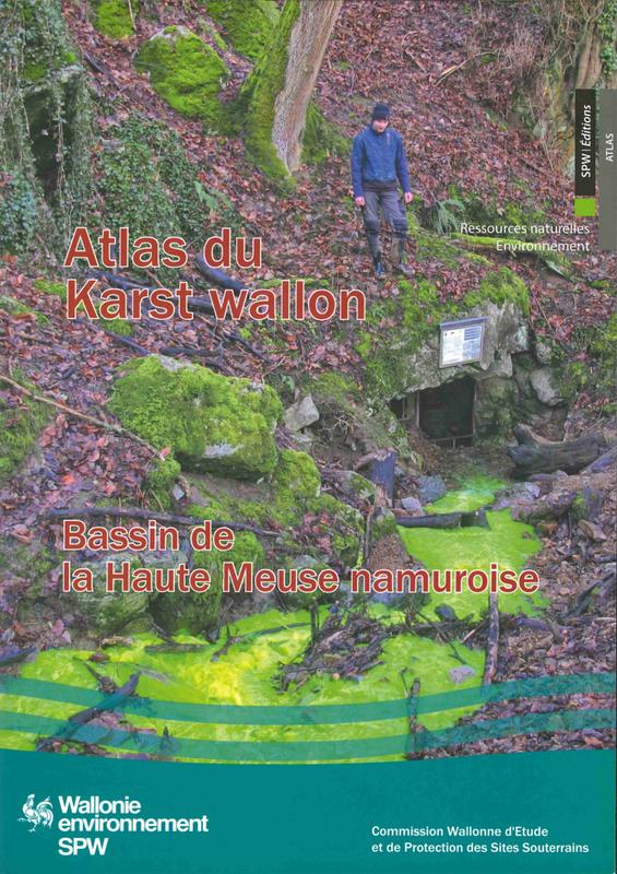 Atlas du Karst Wallon N°08.  Bassin de la Haute-Meuse namuroise (papier)