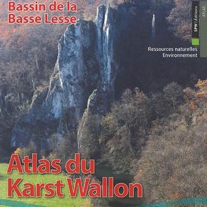 Atlas du Karst Wallon N°4. Bassin de la Basse Lesse. Inventaire cartographique et descriptif des sites karstiques et des circulations d'eau souterraine (papier)
