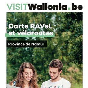 Carte RAVeL et véloroutes. Province de Namur / Kaart RAVeL-en fietsroutes. Provincie Namen [2021] (papier)*