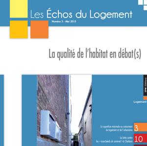 Les Échos du Logement - Numéro 2015-2 - La qualité de l'habitat en débat(s) (numérique)