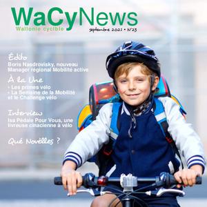 WaCynews N°23 (Septembre 2021). Boris Nasdrovisky, nouveau Manager régional Mobilité active   Primes vélo   Semaine de la Mobilité et le Challenge vélo (numérique)